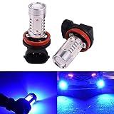 2 PCS Car H8 H11 33-SMD LED Xenon Head Light Headlight Bulbs Lamp or Daytime Running Lights Lighting DRL 12V 7.5W - Blue