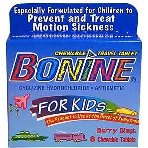 Bonine for Kids Motion Sickness Tablets, Berry Berry