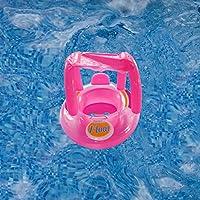 Magideal Inflatable Baby Float Seat Boat Beach Car Sun Shade Water Swim Pink