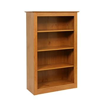 Tipton French Gardens Traditional Styled 4 Shelf Bookcase With Antique Pine Effect by Carran Office Furniture