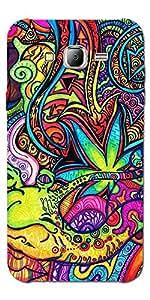 SEI HEI KI Designer Back Cover For Samsung Galaxy J2 - Multicolor