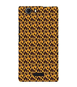 Abstract Floral 3D Hard Polycarbonate Designer Back Case Cover for Micromax Canvas Nitro 2 E311 :: Micromax Canvas Nitro 2 (2nd Gen)