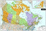 Wall Pops WPE0255 Canada Peel and Stick Dry-Erase Map
