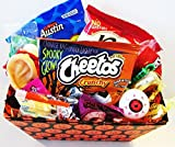 Fun Halloween Trick or Treat Basket with Candy Chocolates Snacks and Fun Gags and Bubbles