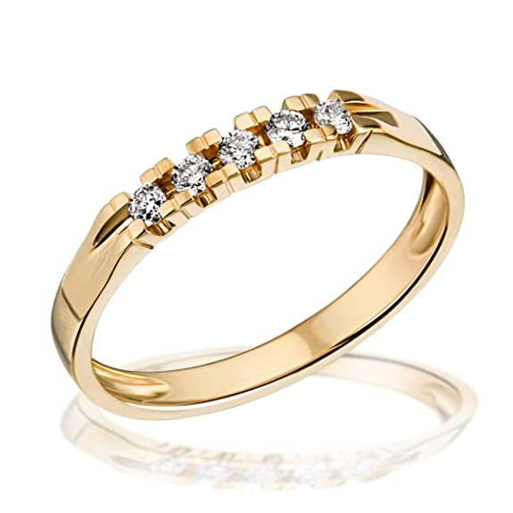 Goldmaid Me R4717GG    Diamond 585 Yellow Gold Ring
