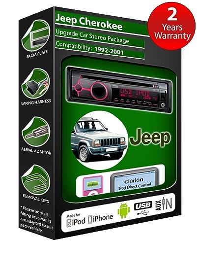 Jeep Cherokee de lecteur CD et stéréo de voiture radio Clarion jeu USB pour iPod, iPhone, Android