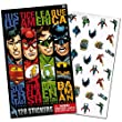 Justice League Stickers ~ 128 Stickers (Superman, The Flash, Green Lantern, Batman)