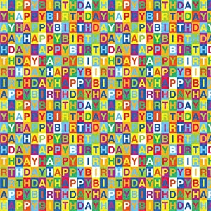 "... Gift Wrap 5'x30"" Roll-Happy Birthday Checkerboard - Gift Wrap Paper: www.amazon.com/Printed-Gift-Roll-Happy-Birthday-Checkerboard/dp..."