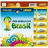 Panini 207503 - FIFA World Cup Brasil 2014, Starterset mit Sammelalbum, 10 Tüten und 5 Sticker