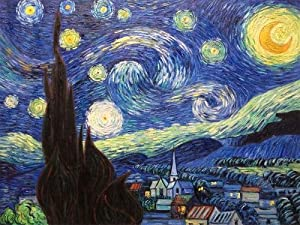 "Art Reproduction Oil Painting - Van Gogh Paintings: Starry Night - Extra Large 30"" X 40"" - Hand Painted Canvas Art"