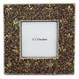 Indian Gift Photo Frame Decorative Handmade Beaded Material Golden Table Topper Antique Picture Frame Standing...