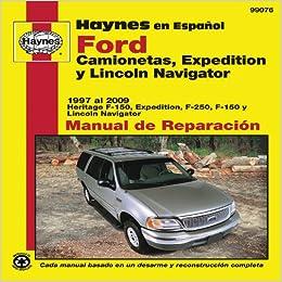 Ford Camionetas, Expedition y Lincoln Navigator Manual de
