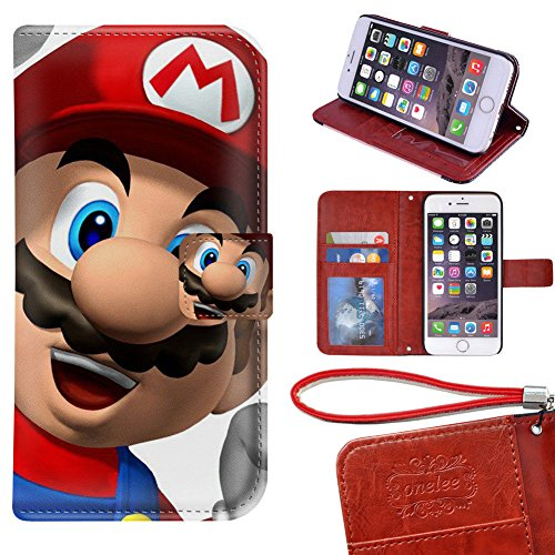 iPhone 6S,iPhone 6 [4 7 inch] PU Leather Super Mario Wallet Case