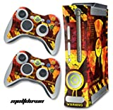 XBOX 360 Console Meltdown Design Decal Skin - System & Remote Controllers -MELTDOWN