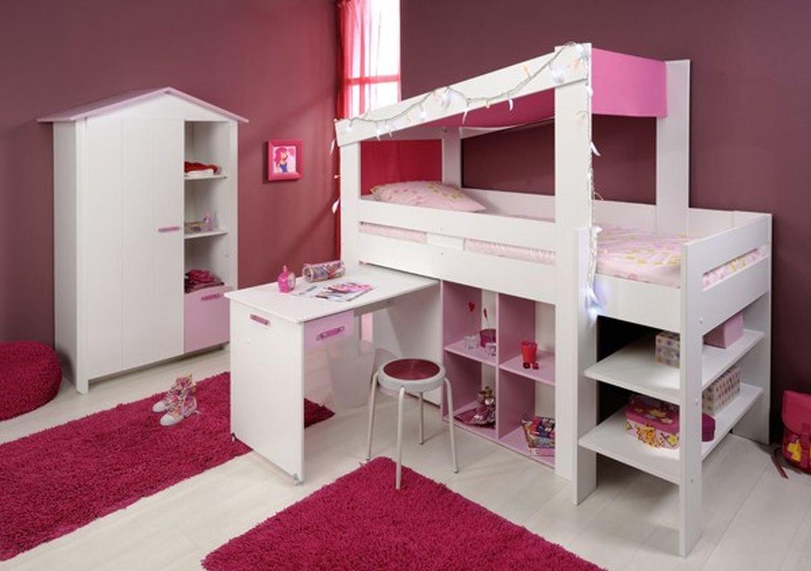 Parisot Biotiful 6 Kinderzimmer-Set 2-tlg. in der Farbe Weiss/Rosa bestellen