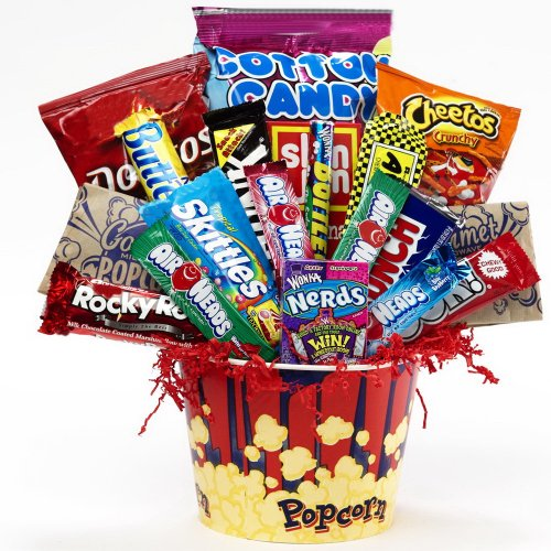 Junk Food Junky Snacks and Candy Bouquet Gift Basket - A Great Idea for Father's Day!