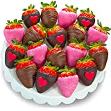 Golden State Fruit Chocolate Covered Strawberries, 18 Love Bites Valentine