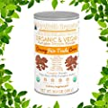 ORGANIC PROTEIN POWDER Plant-Based (Fair Trade Creamy Chocolate Fudge) by MARYRUTH - Vegan, Gluten Free, Non-GMO, Soy Free, Dairy Free, Nut Free, No Fillers, No Additives, Paleo Friendly 16.3 oz