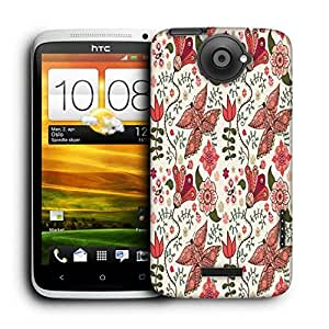 Snoogg Lite Butterfly Printed Protective Phone Back Case Cover For HTC One X