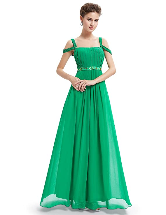 Ever Pretty Emerald Green Sexy Off Shoulder Long Prom Dress 08115
