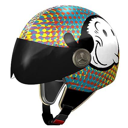 NZI 490021G575 Vintage II Blisscross Casque de Moto, Illustration Olive Oyl, Taille : M