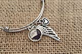 Loss of Mom Memorial Jewelry, Memorial Bracelet, Mom Butterfly Pendant, Angel Wing, Sympathy Gift