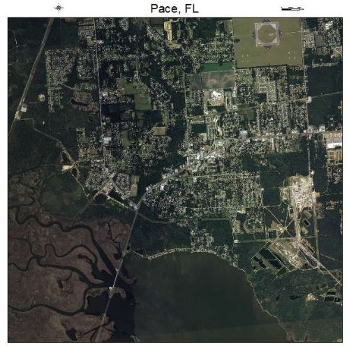 Aerial Photography Map of Pace, Florida