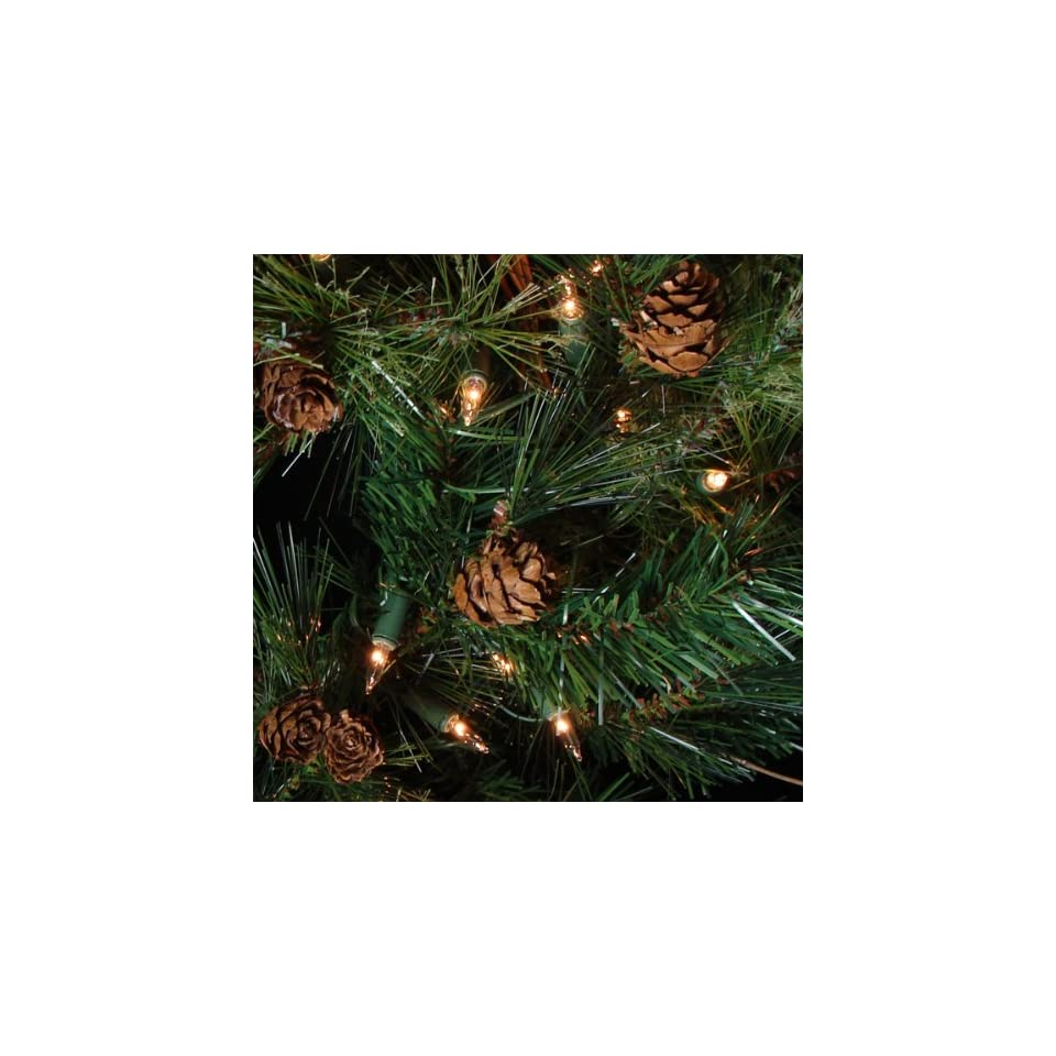 30 Pre Lit Mixed Country Pine Artificial Christmas Wreath   Clear Lights