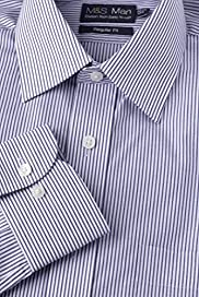 Cotton Rich Easy to Iron Bengal Striped Shirt [T11-5044-S]