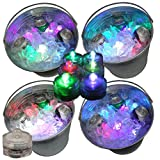 Moondon Mardi Gras Fat Tuesday Party LED Submersible Ice Bucket Lights 12 Color Changing