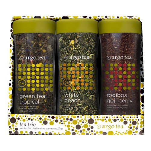 Tea Trio Gift Set - Green Tea Tropical, White Peach And Rooibos Goji Berry