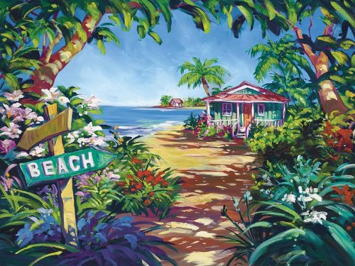 Cheap Great American Beach, 300 Large Piece Puzzle By Great American Puzzle Factory (B002KXYRO0)