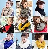 ニット スヌード ざっくり 編み 首元 あったか 巻き方 色々 選べる 8 種類