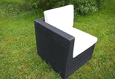 Gartenmöbel 3tlg. Sitzgruppe Poly Rattan Lounge Garten Garnitur Couch creme von Nexos Trading bei Gartenmöbel von Du und Dein Garten