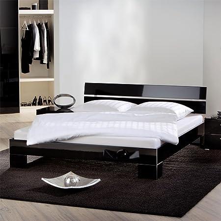 Bett Hochglanz Schwarz Schlafzimmermöbel LOLA Ausfuhrung 7 Pharao24
