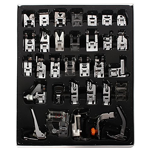 Great Features Of 32Pcs Sewing Machine Presser Foot Set For Janome Brother Singer Domestic Part US