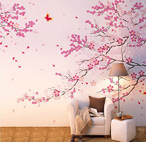 Funk 39 n beauty with cherry blossom tree graphics funk for Cherry tree wall mural