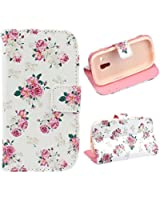 Atdoshop(TM) Cute Leather Cover Case For Samsung Galaxy S3 mini i8190 (Floral)