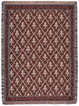 Red Traditional Fleur De Lis Pattern Tapestry Throw Blanket 50quot x 70quot