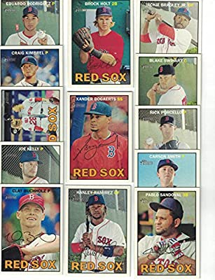 Boston Red Sox / 2016 Topps Heritage Baseball Team Set. FREE 2015 Topps Red Sox Team Set WITH PURCHASE!