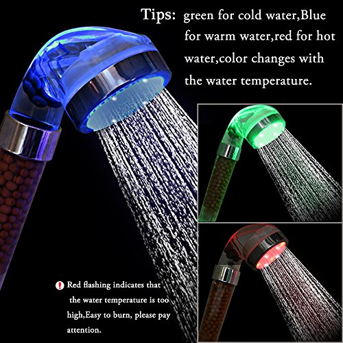 Harrahs LED Color Changing Shower New generation Magneto Therapy Anion Lighting (Water Therapy Shower compare prices)