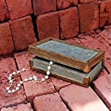 Store Indya Handmade Keepsake Jewellery Box Made of Mango Wood Slate Veneer Finish Dressing Table Accessory