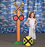 Railroad Crossing Standee Train Party Prop