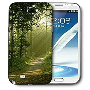 Snoogg Small Trees Printed Protective Phone Back Case Cover For Samsung Galaxy Note 2 / Note II