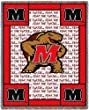 Univ of Maryland Fear Turtle - 69 x 48 Blanket/Throw - Maryland Terrapins