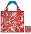 LOQI Wild Sugar Bush Reusable Shopping Bag, Red