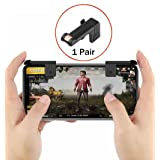 Mobile Game Controller Sensitive Shoot and Aim Buttons L1&R1 for PUBG/Fortnite/Rules of Survival 1 Pair Survival Game Controller for 4.5-6.5 inch Android IOS Phone (Color: black)