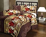 Snoopy Double Golden Dawn Floral Comforter, Quilt (250 GSM)