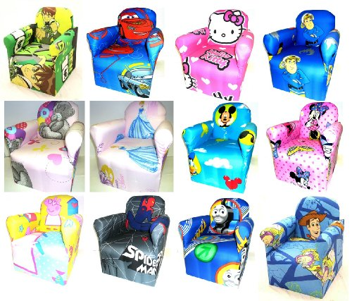 DISNEYS MICKEY MOUSE CHILDRENS BRANDED CARTOON CHARACTER ARMCHAIR CHAIR BEDROOM PLAYROOM KIDS SEAT