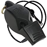 Fox 40 Eclipse Non-Glow Whistle with Breakaway Lanyard, Black (Color: O Black)